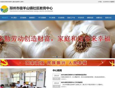 贺宿羊山镇社区教育中心官网改版全新上线!